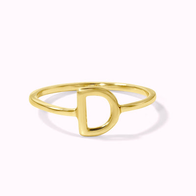 Customizable Initial Ring Ring 14K Solid Gold
