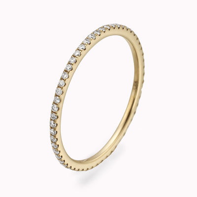 Diamond Eternity Ring Ring 14K Solid Gold 4 14k Yellow Gold