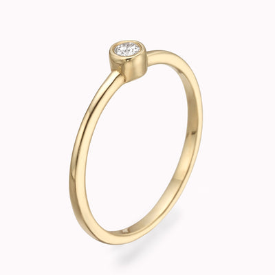 Diamond Solitaire Ring Ring 14K Solid Gold 4 14k Yellow Gold