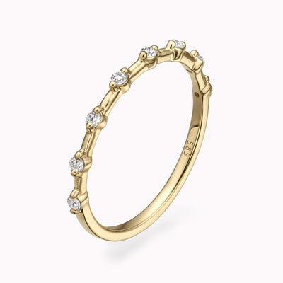 Diamond Stacking Ring Ring 14K Solid Gold 4 14k Yellow Gold