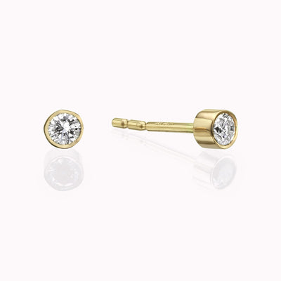 Diamond Stud Earrings Earrings 14K Solid Gold 14k Yellow Gold