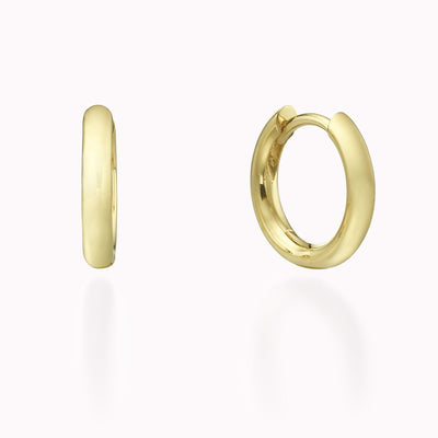 Gold Hoops Earrings 14K Solid Gold 14k Yellow Gold