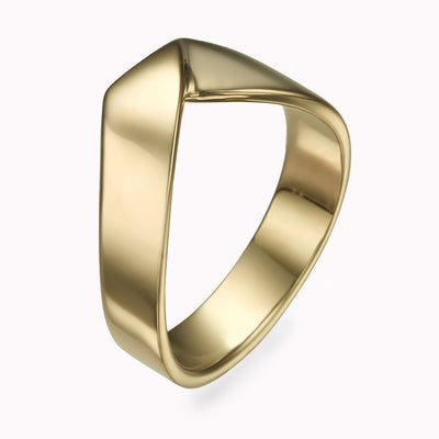 Gold Stack Ring Ring 14K Solid Gold 4 14k Yellow Gold