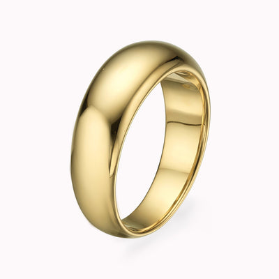 Medium Ring Band Ring Gold Vermeil Yellow Gold Vermeil 4