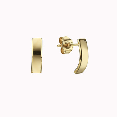 Plate Studs Earrings Gold Vermeil Yellow Gold Vermeil
