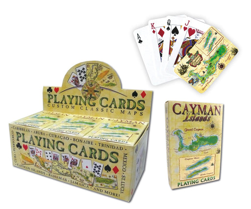 Playing Cards: Cayman Map