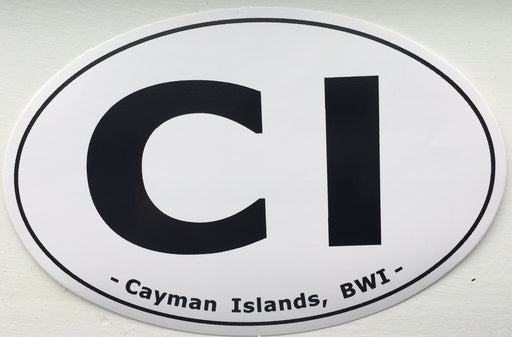 Cayman Islands CI Car Sticker. Limited Supply!