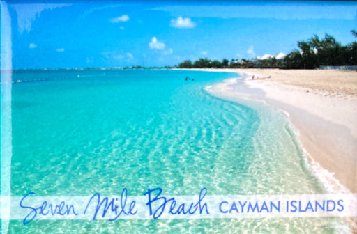 Cayman Islands Magnet with Beach. 7 Mile Beach, Cayman Islands. Grand Cayman Magnet. Cayman Islands Christmas gifts. Cayman Islands Stocking Stuffer. Seven Mile Beach gift.