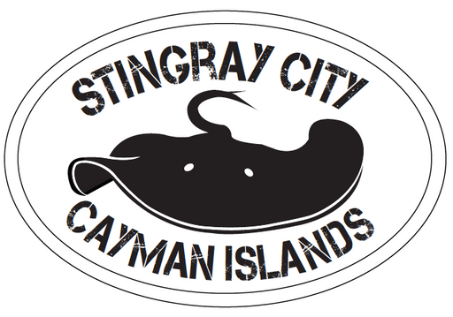 Cayman Islands Stingray City Car Sticker. Limited Supply!