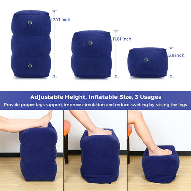 Press-type Inflatable Foot Pillow