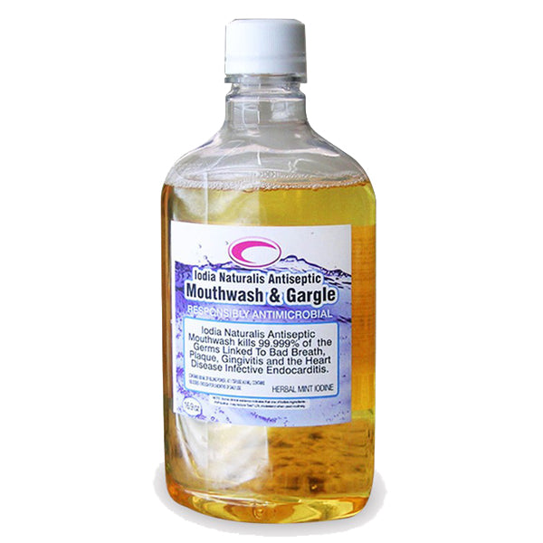 Prevent cavities - throat infections - coughs/colds - gingivitis - with iodized concentrated mouthwash.