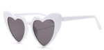 White Heart Shaped Sunglasses