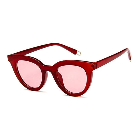 Red Sunglasses with pink lenses and red frame