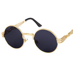 Gold frame sunglasses with black lens
