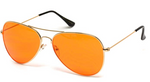 Classic Aviators with Orange Lenses