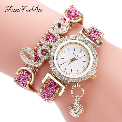 Love Designer Bracelet Watch Set