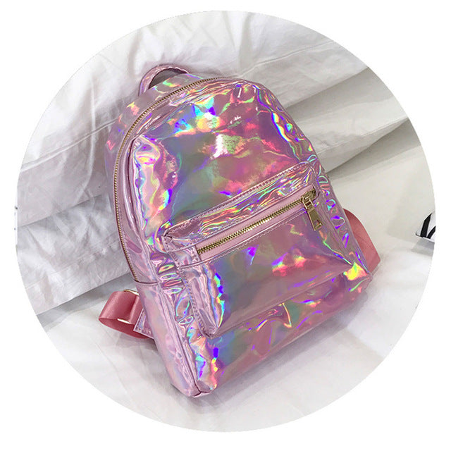 Holographic Laser Backpack Purse