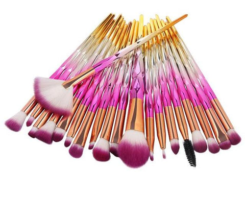 10/20Pcs Diamond  Eye Shadow Makeup Brushes Set l