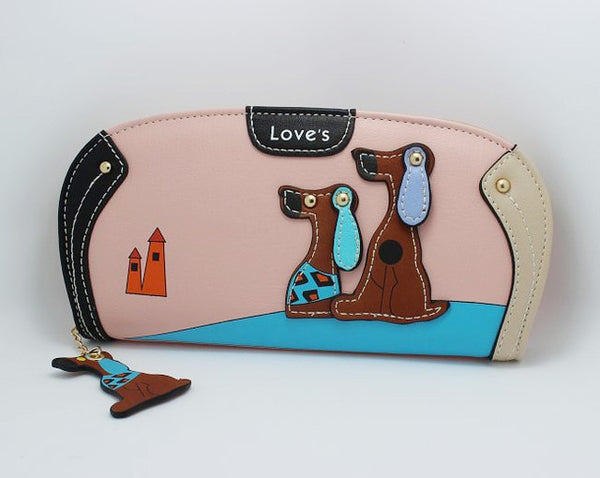 Cute Fashion Cartoon Dog Clutch Wallet