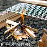 Expedition Solid Fuel - Hexamine 1300-Degree Tablets - Rugged & Submersible Storage Trays for Camping Stoves and Fire Starting, Backpacking, Survival, and Bushcraft