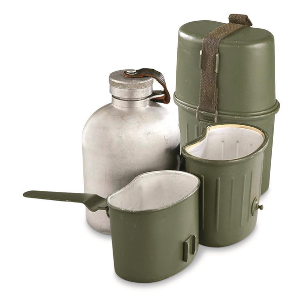 German Military Surplus 3 Piece Canteen Set, Used