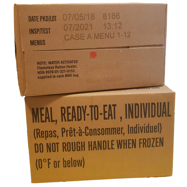 MRE Case A Meals 1-12 inspection date of 2019