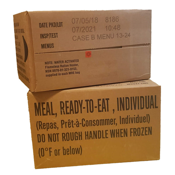 MRE Case B Meals 13-24 inspection date of 2019