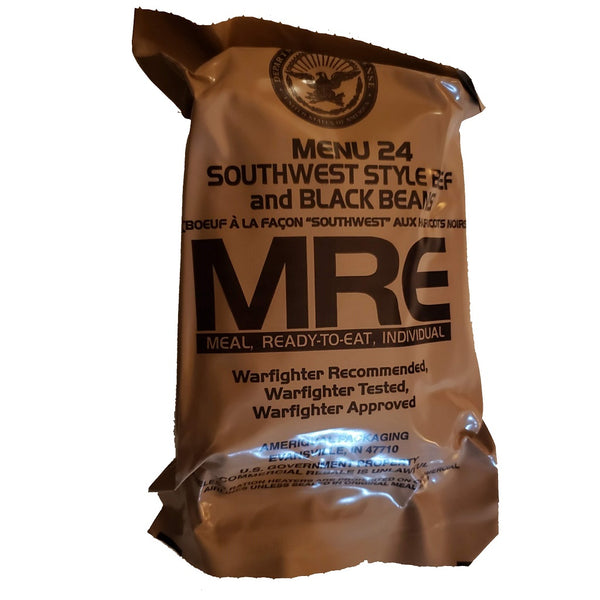 MRE Meal 24 - Southwest style beef and black beans