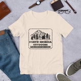 North Georgia Outdoors Short-Sleeve Unisex T-Shirt Black Printing
