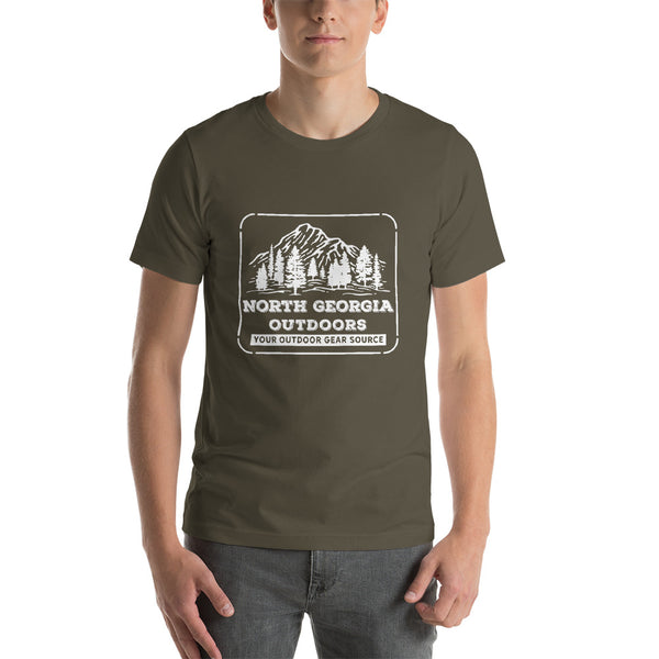 North Georgia Outdoors Short-Sleeve Unisex T-Shirt White Printing