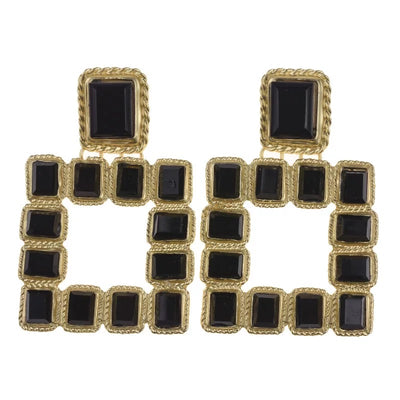 Black Square Earring