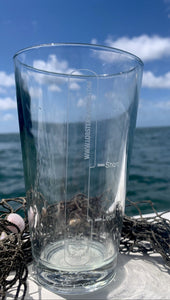 Lobster Gauge Etched Pint Glass