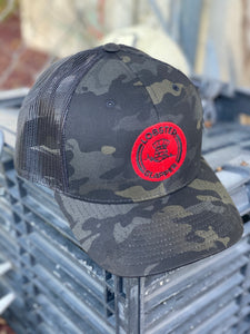 Camo Hat w/ Red Logo