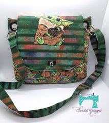Jesse Crossbody with Baby Yoda panel for the flap