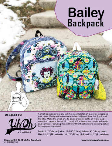 Bailey Backpack Pattern - PDF Download