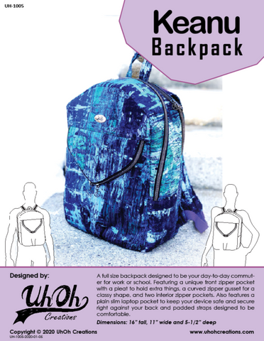 Keanu Backpack Pattern - PDF Download