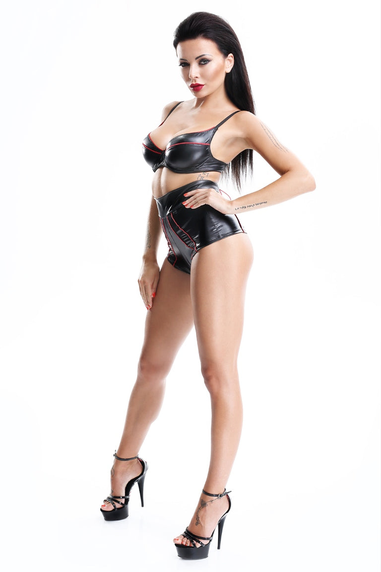set lenjerie erotica wetlook retro chilot talie inalta shinju