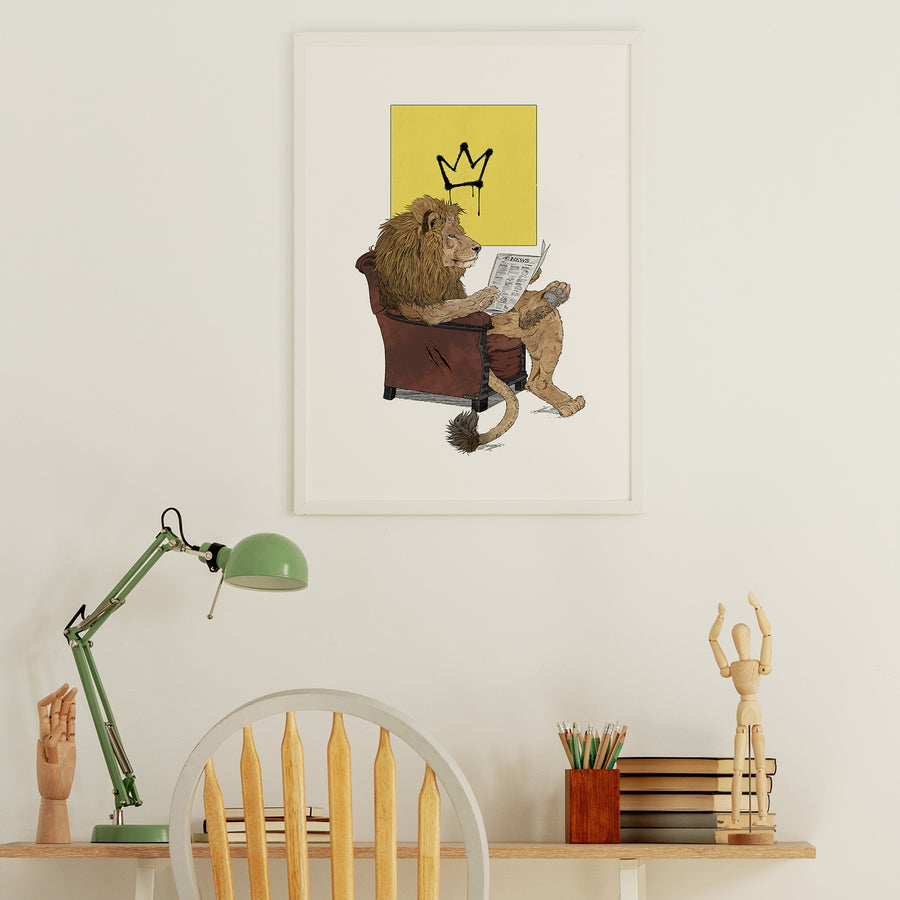 Lion King - Fine Art Print - Rolling Panda