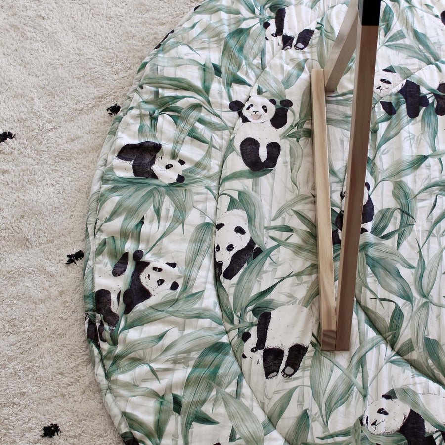 Panda Dreams Cotton Round Playmat & Bag - Rolling Panda