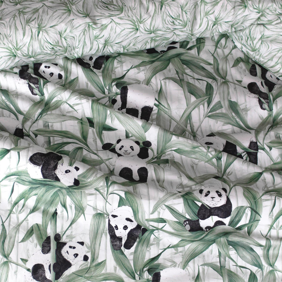 Panda Dreams Cotton Quilt Cover Set - Rolling Panda