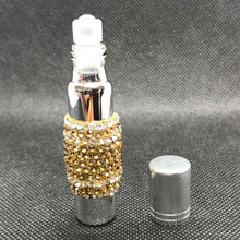 Load image into Gallery viewer, glass roll-on perfume bottle in rhinestones