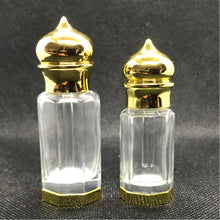 Load image into Gallery viewer, Octagonal shaped clear glass perfume bottle