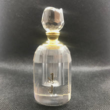 Load image into Gallery viewer, clear glass perfume bottle with rose cut lid