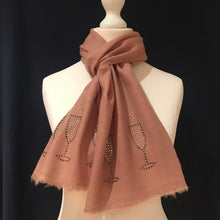 Load image into Gallery viewer, camel merino wool scarf