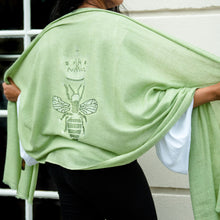 Load image into Gallery viewer, Queen Bee Merino Wool Shawl