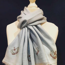 Load image into Gallery viewer, merino wool scarf mini crowns
