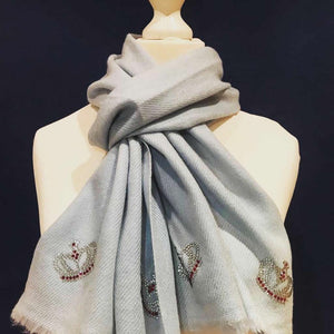 merino wool scarf mini crowns