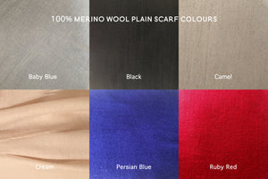 merino wool scarf colours