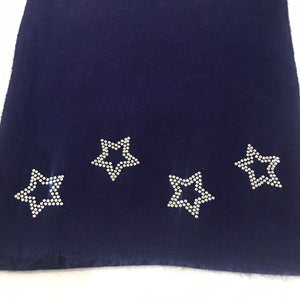 stars on merino wool scarf