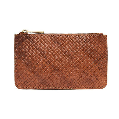 St Agni Louis Zip Pouch - Antique Tan